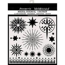 Stamperia Media Stencil Stars (KSTDQ50)