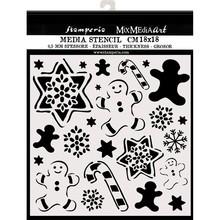 Stamperia Media Stencil Gingerbread (KSTDQ51)