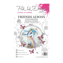 Pink Ink Designs Friends A5 Clear Stamp Set (PI063)