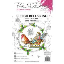 Pink Ink Designs Sleigh Bells Ring A5 Clear Stamp Set (PI078)