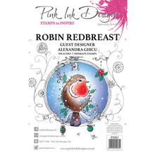 Pink Ink Designs Robin Redbreast A5 Clear Stamp Set (PI083)