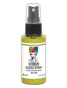 Dina Wakley MEdia Media Gloss Spray Olive 56ml (MDO68556)