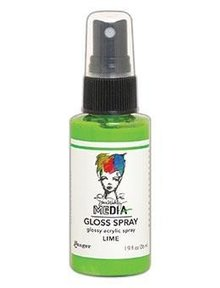 Dina Wakley MEdia Media Gloss Spray Lime  56ml (MDO68501)