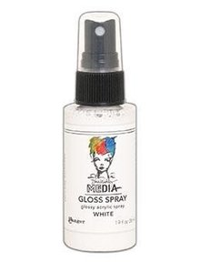 Dina Wakley MEdia Media Gloss Spray White 56ml (MDO68570)
