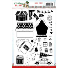 Yvonne Creations Christmas Village Clear Stamp Set (YCCS10059)