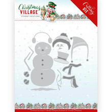 Yvonne Creations Christmas Village Build Up Snowman Die (YCD10208)