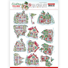 Yvonne Creations 3D Push Out Christmas Village Christmas Houses (SB10474)