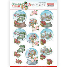 Yvonne Creations 3D Push Out Christmas Village Christmas Globes (SB10476)