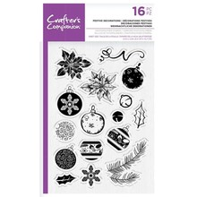 Crafter's Companion Festive Decorations Clear Stamps (CC-STP-FED)