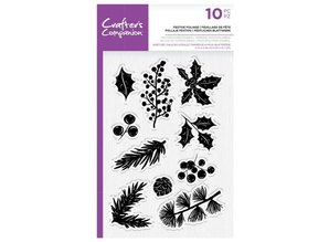 Crafter's Companion Festive Foliage Clear Stamps (CC-STP-FEF)