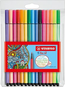 Stabilo Pen 68 Viltstift (15 pcs) (6815-2)