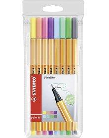 Stabilo Pen 88 Fineliner Pastels (8 pcs) (88/8-01)