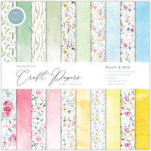 Craft Consortium Essential Craft Papers 12x12 Inch Paper Pad Bloom & Wild (CCEPAD009)