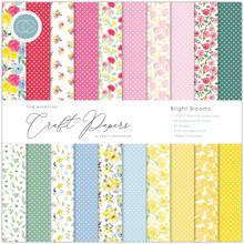 Craft Consortium Essential Craft Papers 12x12 Inch Paper Pad Bright Blooms (CCEPAD010)