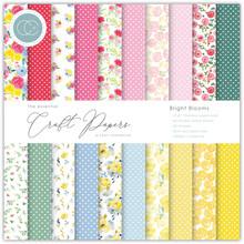 Craft Consortium Essential Craft Papers 6x6 Inch Paper Pad Bright Blooms (CCEPAD010B)