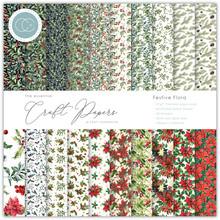 Craft Consortium Essential Craft Papers 6x6 Inch Paper Pad Festive Flora (CCEPAD011B)