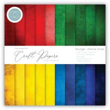 Craft Consortium Essential Craft Papers 6x6 Inch Paper Pad Grunge Festive Tones (CCEPAD012B)