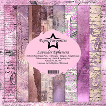 Paper Favourites Lavender Ephemera 12x12 Inch Paper Pack (PF340)
