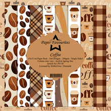 Paper Favourites Coffee 6x6 Inch Paper Pack (PF138)