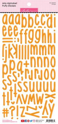 Bella BLVD Orange Aria Alpha Puffy Stickers (BB2225)
