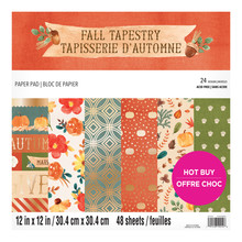 Craft Smith Fall Tapestry 12x12 Inch Paper Pad (MSE6148)