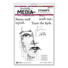 "Ranger Dina Wakley Media Cling Stamps 6""X9"" Work In Progress (MDR69621)"