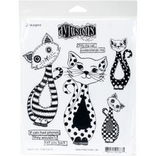 Ranger Dylusions Puddy Cat Cling Stamps (DYR 53675)