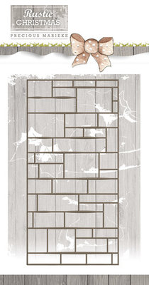 Precious Marieke Rustic Christmas Brick Wall Die (PM10045)