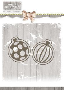 Precious Marieke Rustic Christmas Bauble Set Die (PM10043)