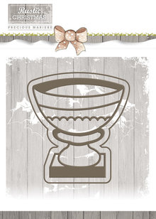 Precious Marieke Rustic Christmas Stone Vase Set Die (PM10041)