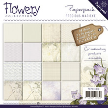 Precious Marieke Flowery Collection 6x6 Inch Paper Pack (PMPP10010)