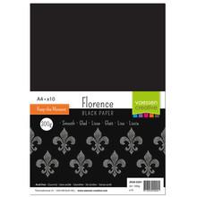 Vaessen Creative Zwaar Basis Karton Zwart A4 300 Gram 10 Vellen (2920-0201)