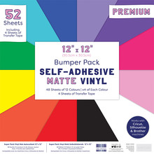 First Edition Self Adhesive 12x12 Inch Matte Vinyl (FEVYN001)