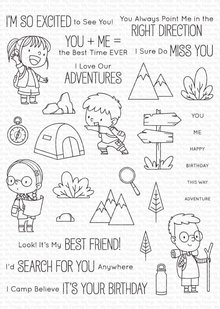 My Favorite Things Adorable Adventures Clear Stamps (BB-108)