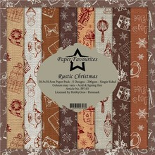 Paper Favourites Rustic Christmas 12x12 Inch Paper Pack (PF343)