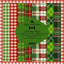 Paper Favourites Christmas Plaid 6x6 Inch Paper Pack (PF141)