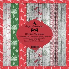 Paper Favourites Wooden Christmas 6x6 Inch Paper Pack (PF144)