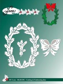 By Lene Metal Dies Holly Wreath (BLD1296)