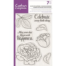 Crafter's Companion Bloom with Happiness Clear Stamps (CC-STP-BLWH)