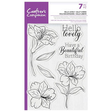 Crafter's Companion Hello Lovely Clear Stamps (CC-STP-HELOV)
