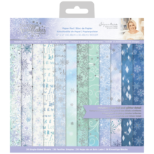 Crafter's Companion Glittering Snowflakes 12x12 Inch Paper Pad (S-GS-PAD12)