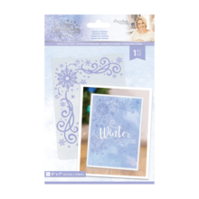 Crafter's Companion Glittering Snowflakes Touch of Winter 5x7 Inch Embossing Folder (S-GS-EF5-TOWI)