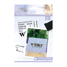 Crafter's Companion Glittering Snowflakes Winter Solstice Clear Stamp & Die (S-GS-STD-WISO)
