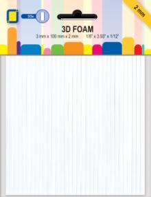 JEJE Produkt 3D Foam LINES 3 mm x 100 mm x 2 mm (3.3055)