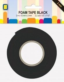 JEJE Produkt Foam Tape Black 2 m x 12 mm x 2 mm (3.3022)