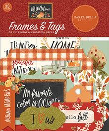 Carta Bella Hello Autumn Ephemera Frames & Tags (CBHEA122025)