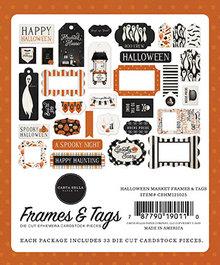 Carta Bella Halloween Market Ephemera Frames & Tags (CBHM121025)