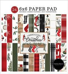Carta Bella Farmhouse Christmas 6x6 Inch Paper Pad (CBFAC123023)