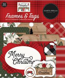 Carta Bella Farmhouse Christmas Ephemera Frames & Tags (CBFAC123025)