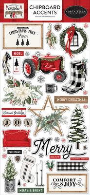 Carta Bella Farmhouse Christmas 6x13 Inch Chipboard Accents (CBFAC123021)
